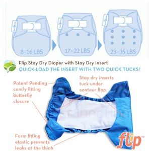 BumGenius Other - BumGenius Flip One-Size Diaper Cover in Dazzle